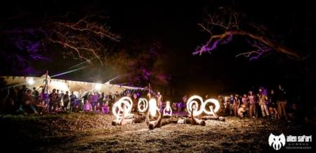 FireTribe performing at Alien Safari