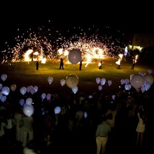 A beautiful full sized fire performance for the Spier White Light Festival