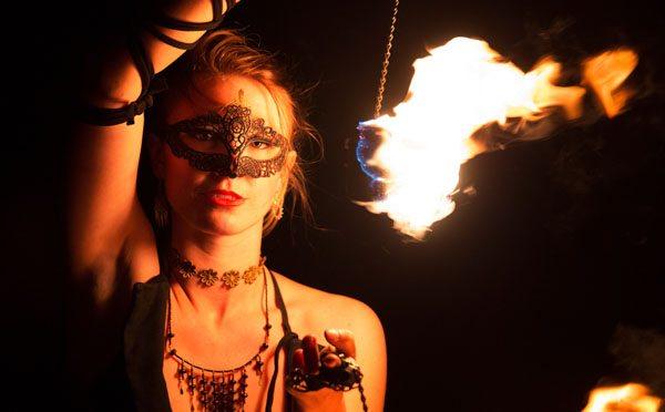 Fire portrait by Sam Lowe Photography