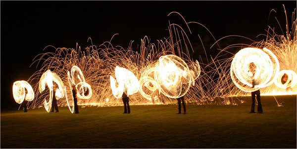 huge fire performance by firetribe at spier estate