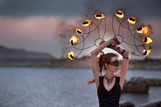 Caitlin Leigh is a professional fire dancer in cape town