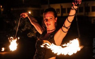 Poi Classes learn how to fire dance with Caitlin from FireTribe
